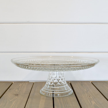quilted glass cake stand  15.  qty. 1