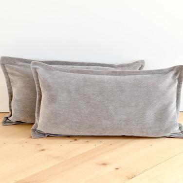 gray velvet pillows  12. ea  qty. 2