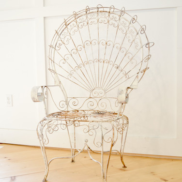 iron peacock chair  35.  qty. 2