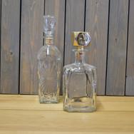 glass liquor decanters  12.  qty. 4