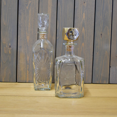 glass liquor decanters  12.  qty. 4
