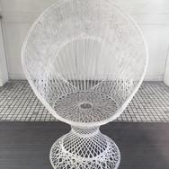 peacock chairs, spun fiberglass  35.  qty. 2