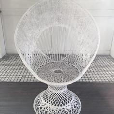 peacock spun fiberglass chairs x 2