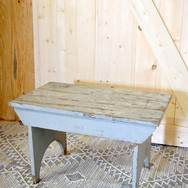 small gray wood bench   15.  qty. 1