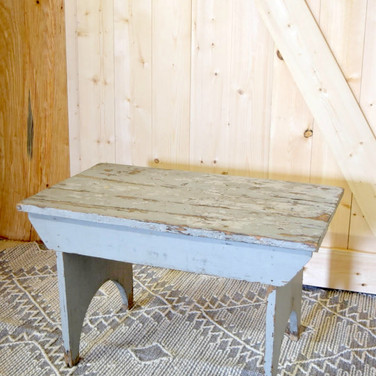 small gray bench  15.
