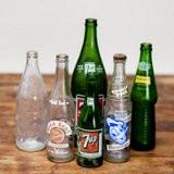 vintage glass soda bottles  1. ea