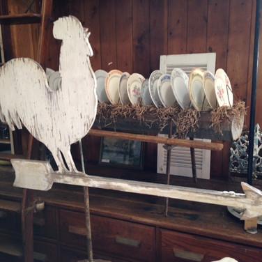 wood chicken weather vane  45.  qty. 1
