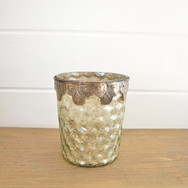 mercury glass pillar candle holder  3.  qty. 1
