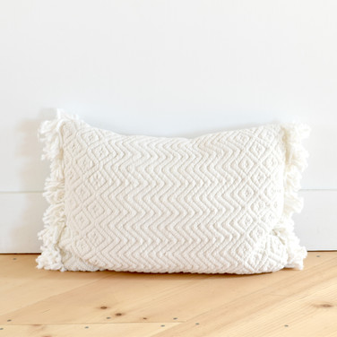 ivory textured pillow  qty. 1