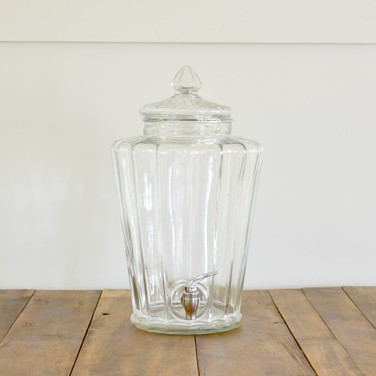 scalloped style drink dispenser  12.  qty. 1
