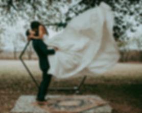Fall wedding ceremony at The Farmhouse wedding venue in Oklahoma