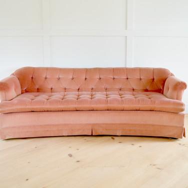 holli sofa, muted raspberry velvet  qty. 1