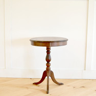 antique round top side table  20.  qty. 1