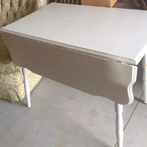 cream drop leaf table