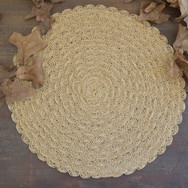 sisal placemats  9. ea  qty. 6