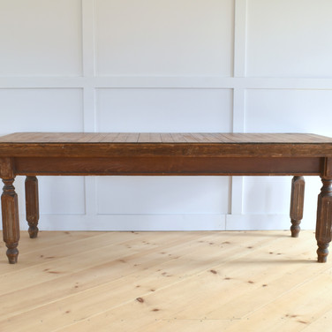 8' walnut farm table  75.   qty. 1