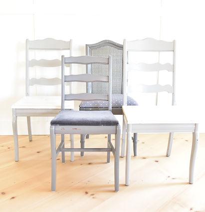 vintage rentals mismatched chairs
