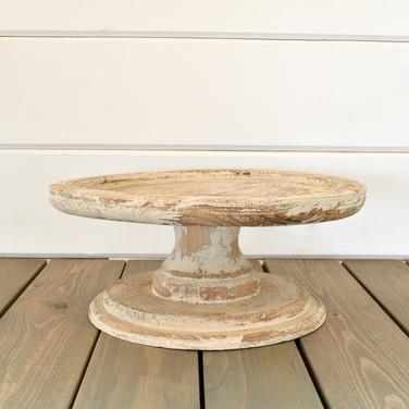 wood farmhouse cake stand  15.  qty. 1