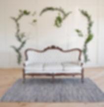 vintage sofa for wedding reception