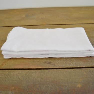 white cotton napkin linens  1. ea  qty. 12