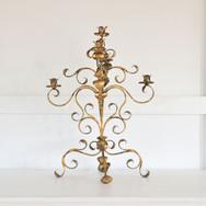 gold candleabra  qty. 1