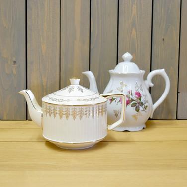 mismatched teapots  5. ea  qty. 6