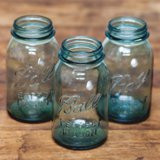 turquoise mason jars   2. ea  qty. 10