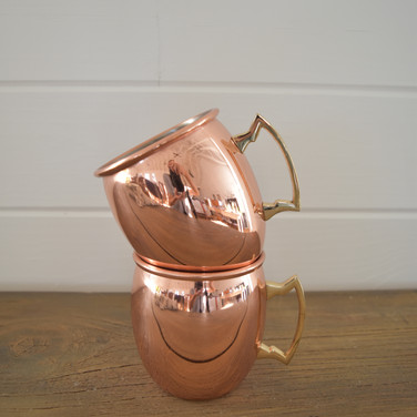 copper mugs  1.50  qty. 4