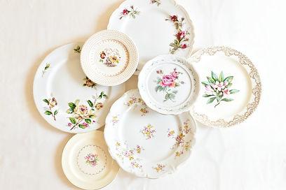 vintage rentals tabletop mismatched china