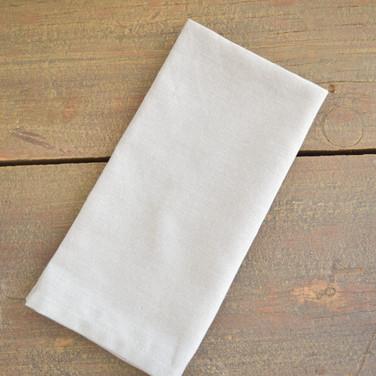 white cotton napkins  1. ea  qty. 12
