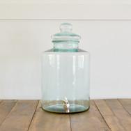 glass working jar drink dispenser  12. sm 14. lg (pictured)