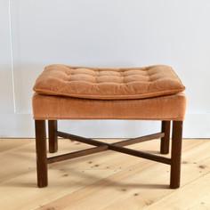 peach tufted stool