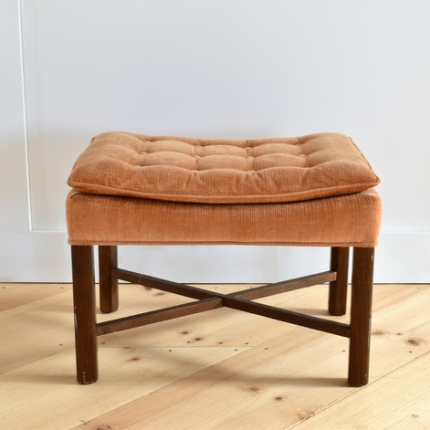 peach tufted stool