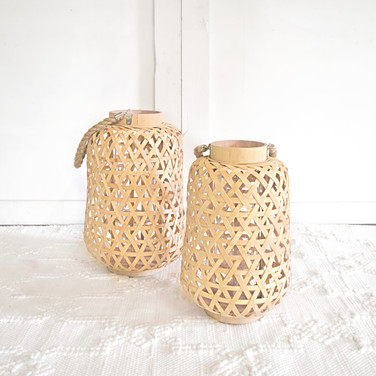 bamboo lanterns with rope handles