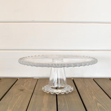 "9 ""hobnail edge glass cake stand  15.   qty. 1"