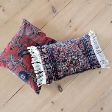 moroccan rug pillows  qty. 2