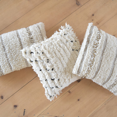 fringy moroccan pillows  qty. 3