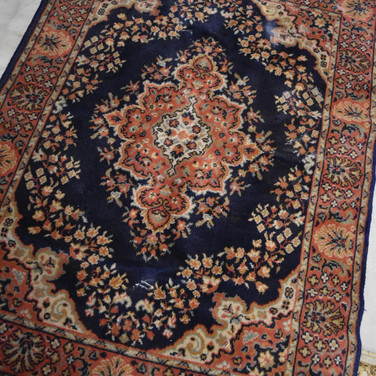 navy multi colored rug, 4 x 6  25.  qty. 1