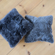 wool square pillows  qty. 2
