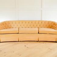 georgia sofa, tufted soft peach rounded back  qty. 1