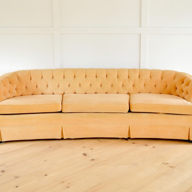 georgia sofa, soft peachy velvet   qty. 1