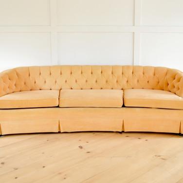 georgia sofa, soft peachy velvet   qty. 1
