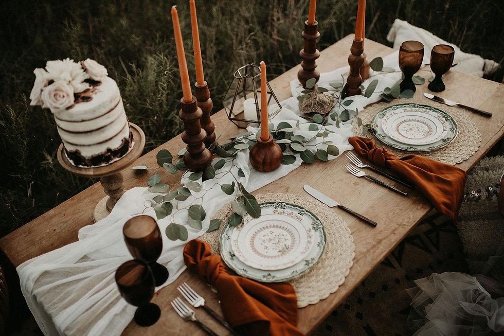 boho table top wedding reception