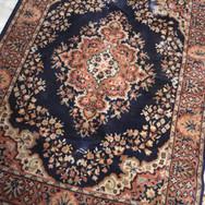 navy print 4x6 rug  qty. 1