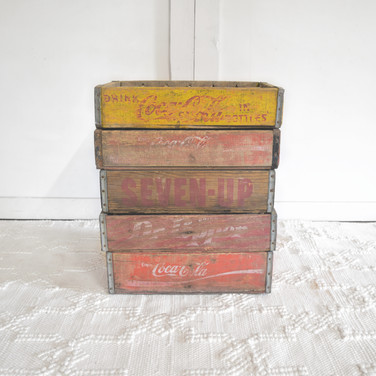 assorted soda crates  qty. 5