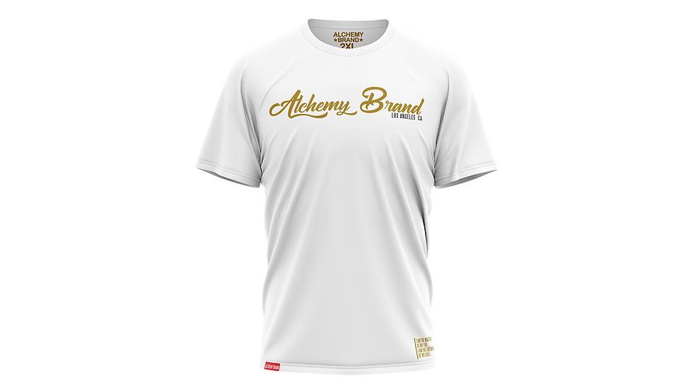 Alchemy T-Shirt - White/Gold