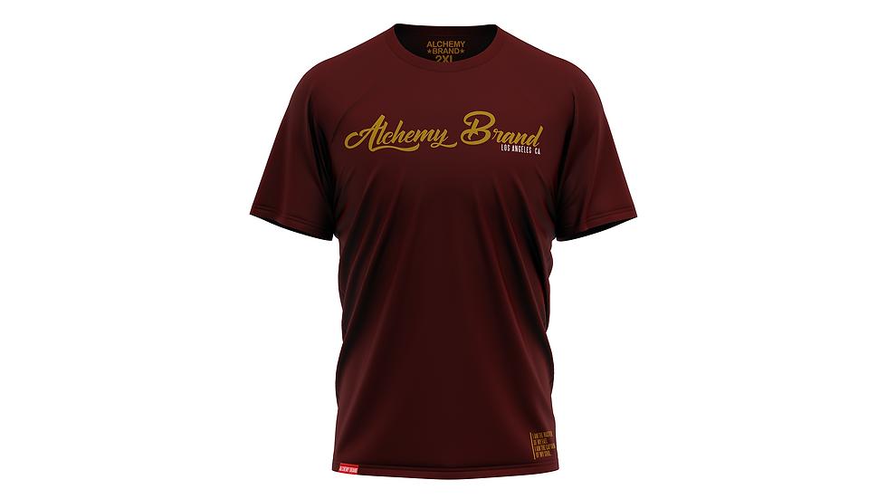 Alchemy T-Shirt - Burgundy/Gold