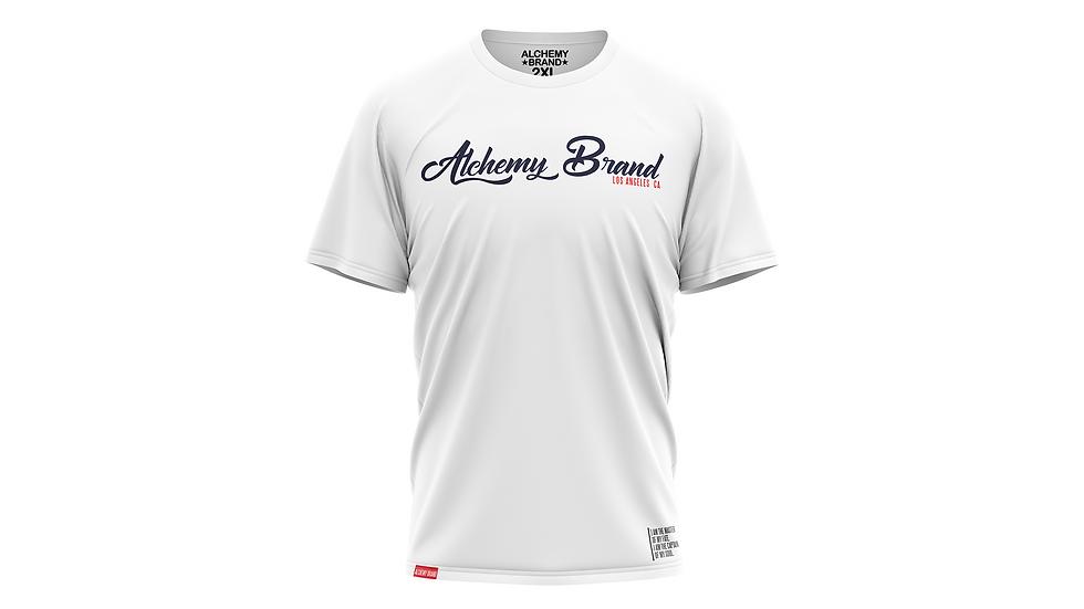 Alchemy T-Shirt - White/Navy Blue