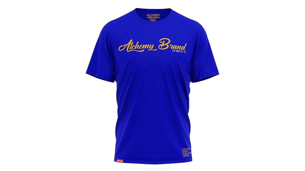 Alchemy T-Shirt - Royal Blue/Yellow