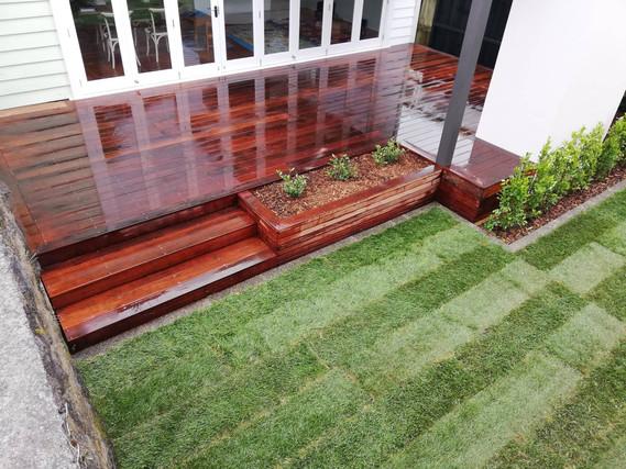 Designer Gardens Auckland new deck